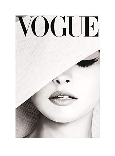Poster Vogue Issues, Glamourous Soft Gray Picture, Art Print Decoration. (12 x 16)