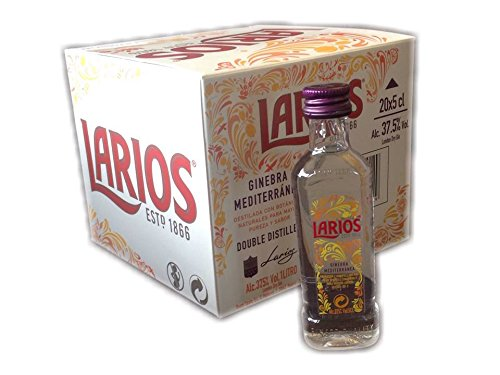 Pack 20 botellitas ginebra Larios 50ml miniatures: Amazon.es ...
