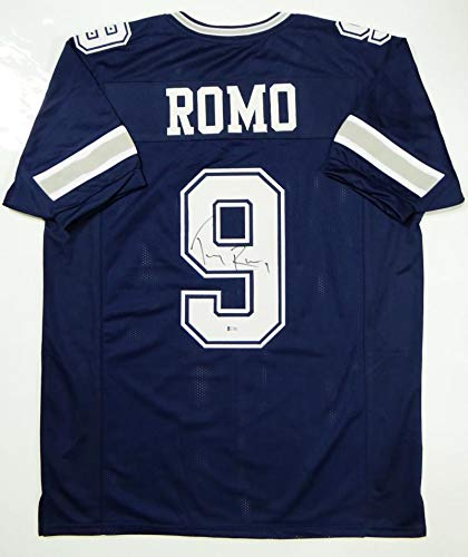 - Signed Tony Romo Jersey - Blue Pro Style Beckett *Black - Beckett Authentication - Autographed NFL Jerseys