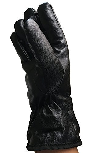 1 Pair of Winter Texting Gloves Gloves Mens Womens Faux Leather (Mens (L/XL))