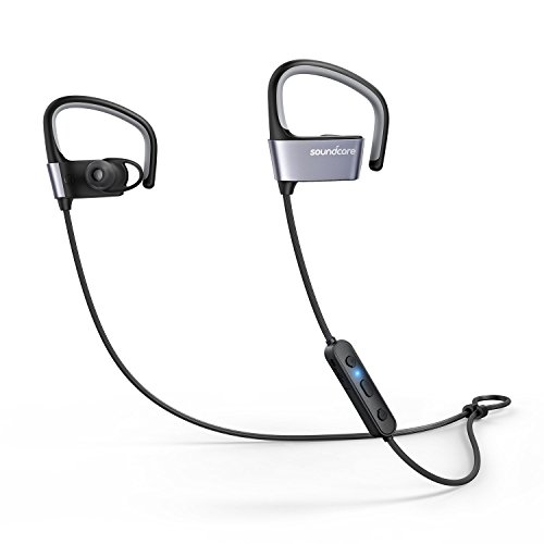 Soundcore Arc Wireless Sport Earphones by Anker, IPX5 Water Resistant, 10 Hour Battery Life, with Flexible EarHooks for Workout, Running, and Gym