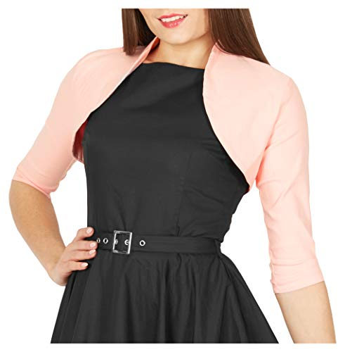 BlackButterfly Tailored 3/4 Sleeve Bolero (Pink, US 14) ()