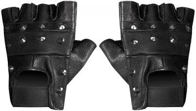 Gants Mitaines Cloutés 100% Cuir US Army - Clous métal - Coloris Noir -  Taille 3d4eb2ff725