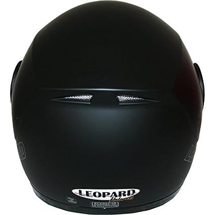Leopard LEO-717 Casque Moto Modulable pour Scooter Chopper Casque de Moto Homme et Femme ECE Homologu/é #2 Noir L Visi/ère suppl/émentaire en Miroir 59-60cm