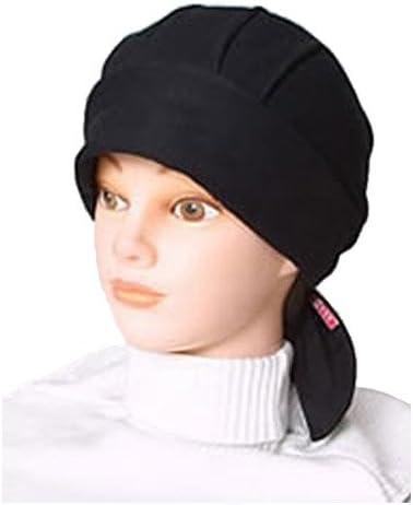 akko バンダナ帽 スカッシュタイプ 黒系統 ブラック