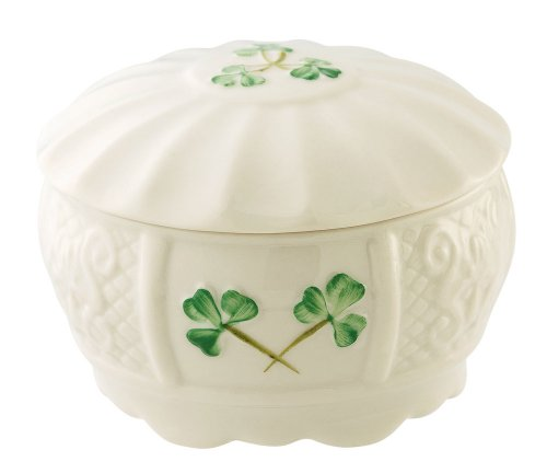 Belleek 1990 Nadine Trinket Box - Ornament Trinket