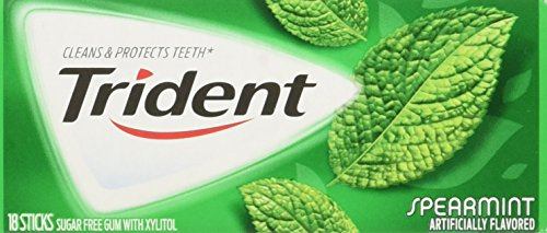 012546615310 - Trident Spearmint, 18-Count (Pack of 12) carousel main 0