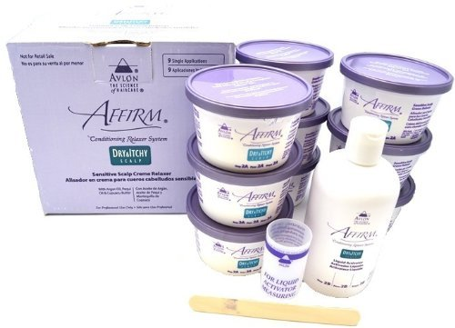 Avlon Affirm Dry and Itchy Scalp Sensitive Scalp Formula Relaxer 9 Pack by Avlon Industries Inc.