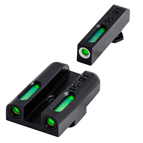 TRUGLO TFX Tritium and Fiber-Optic Xtreme Handgun Sights for Glock Pistols, Glock 42, 43