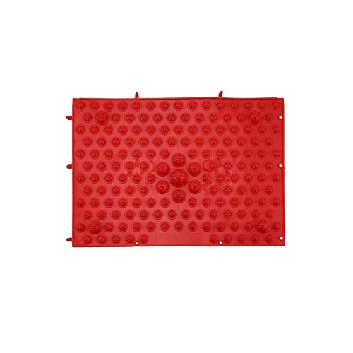 Acupressure Foot Mats Health Care Foot Walking Massage Mat for Pain Relief Stress Relief Acupressure Shiatsu Blanket,Red ()