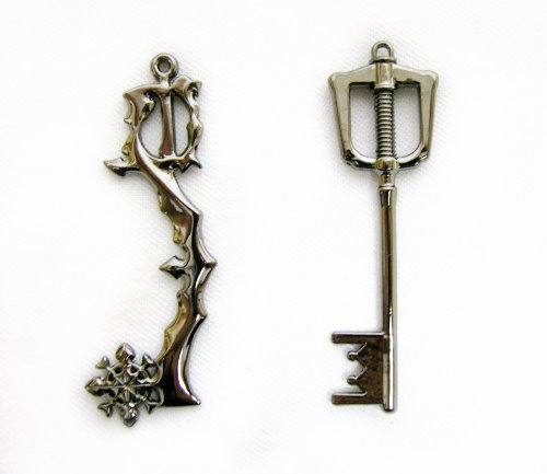 kingdom hearts ii keyblade pendant necklace set 2 sora
