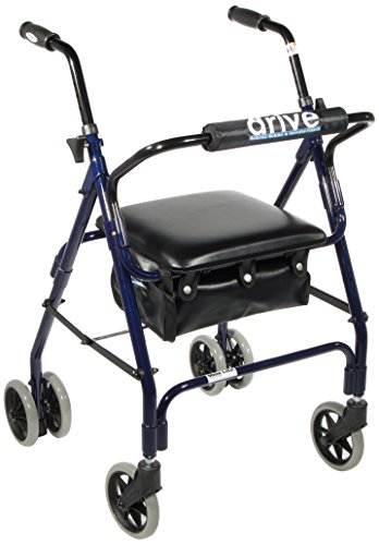 Drive Medical 510 Mimi Lite Push Brake Rollator Walker