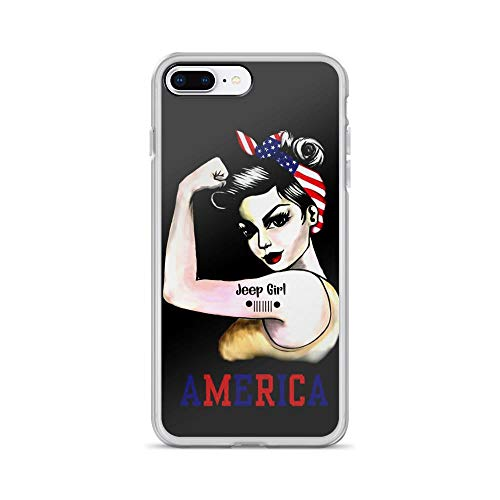 iPhone 7 Plus/8 Plus Pure Clear Case Cover Jeep Girl America