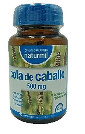 NATURMIL Cola de Caballo 500 mg Pack de (2), 180 comprimidos ...