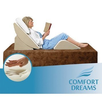 Comfort Dreams Zero Gravity Adjustable 3-Piece Wedge System, Head and Foot support with this Wedge Pillow. Sleep well with the comfort of Memory Foam.Great for an Acid Reflux pillow, comfort - System Wedge Leg