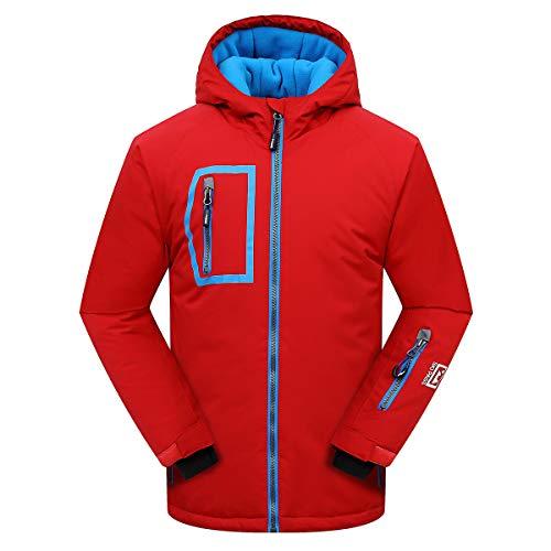 - PHIBEE Big Boy's Waterproof Breathable Snowboard Ski Jacket Red 6