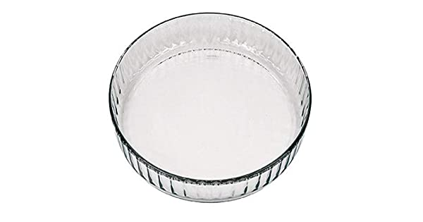 Amazon.com: Marinex vidrio acanalado o quiche plato, 10 – 1 ...