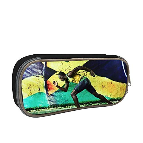 SsSEYYA Meaningful Sport Jamaica Flag Pencil Bag Makeup Pen Pencil Case Big Capacity Pouch Durable Students Stationery with Double Zipper Pen Holder for School/Office (Sonnenbrille, Make-up)