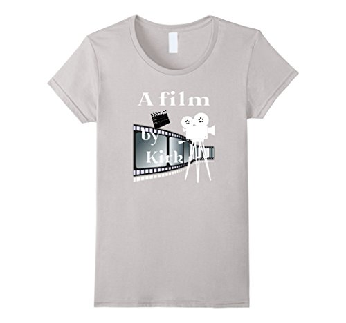 Women's  A film by Kirk Funny T-shirt XL Silver