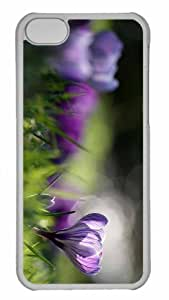 Customized iphone 5C PC Transparent Case - Spring Crocus Personalized Cover by mcsharks