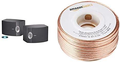 BOSE 301-V Stereo Loudspeakers Pair – Black AmazonBasics SW100ft 16-Gauge Speaker Wire – 100 Feet