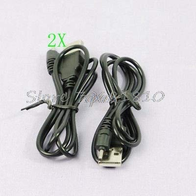 (TD-ELECTRO 2 X USB Charger Cable for Nokia N73 N95 E65 6300 70cm Z17 Drop Ship)