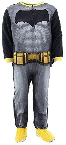 DC Comics Little Boys' Toddler Fleece Batman Blanket Sleeper with Cape, Black, 4T (Batman For Toddlers)
