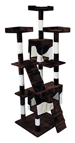 Árbol para gatos - Rascador para gatos Árbol Gatos algodón Sisal columnas Escalada algodón blanco y negro: Amazon.es: Productos para mascotas