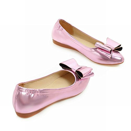 Charm Foot Womens Sweet Bows Pointed Toe Flat Pumps Shoes Pink Purple z1fM7