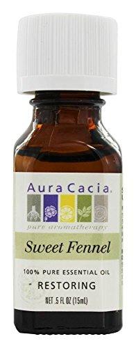 Aura Cacia - Essential Oil Restoring Fennel Seed - 0.5 oz.