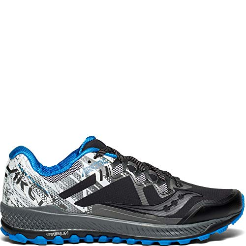 Saucony Men's Peregrine 8 ICE+ Sneaker, Black/White, 11 M US