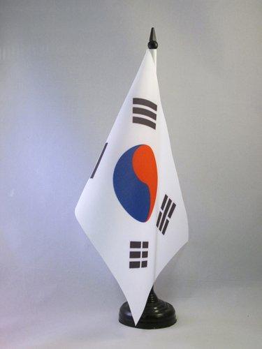 BANDIERA DA TAVOLO COREA DEL SUD 21x14cm - PICCOLA BANDIERINA SUDCOREANA 14 x 21 cm - AZ FLAG