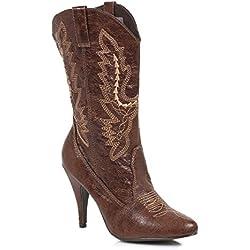 Ellie Shoes Women's 418-Cowgirl Western Boot, color café