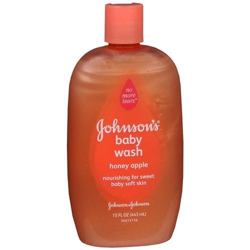 Johnson's Baby Honey Apple Baby Wash 15 oz (444 ml)(pack of (Johnsons Honey)