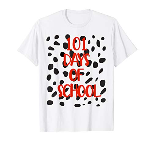 101 Days Of School Dalmatian Dog Spots T Shirt Teacher Shirt]()