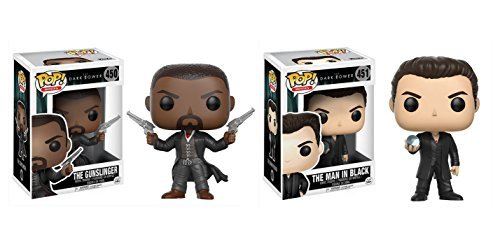 Funko POP Movies The Dark Towers: The Gunslinger and The Man in Black Toy Action Figures - 2 POP BUNDLE