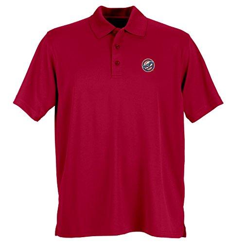 (Vantage Minor League Baseball Louisville Bats Men's Performance Mesh Polo Shirt, Medium, Sport Red )