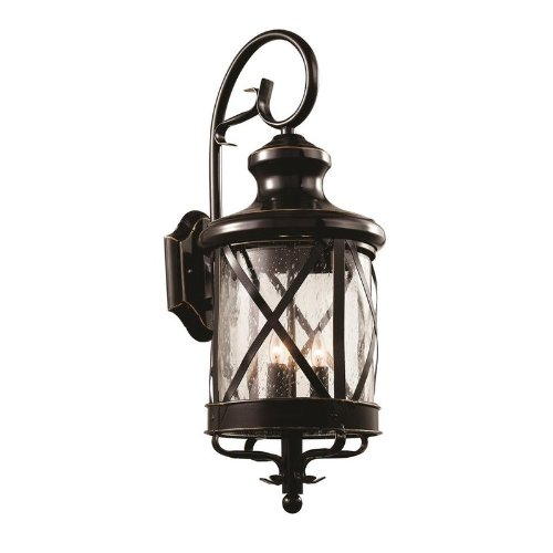 Trans Globe Lighting 5122 ROB Outdoor Chandler 28.75'' Wall Lantern, Rubbed Oil Bronze