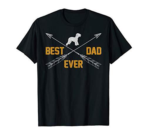 Vintage Best Bedlington Terrier Dog Dad Ever Father's Day T-Shirt ()