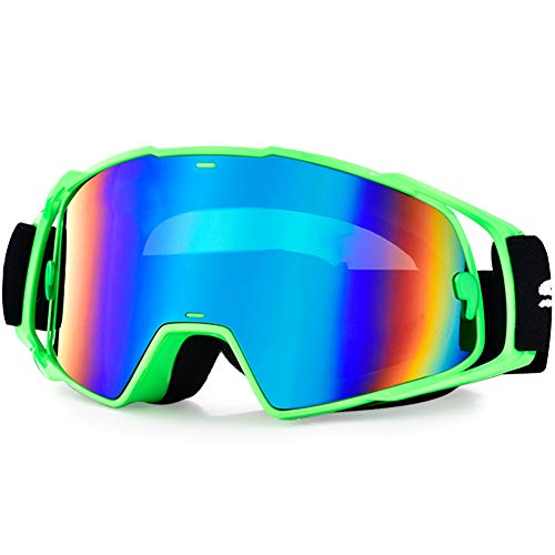 HUBO SPORTS MX Goggles, Dirt Bike Goggles Motocross Goggles for Adults with Windproof & Dustproof and UV Protection - Adult Motorcycle Mx Goggles