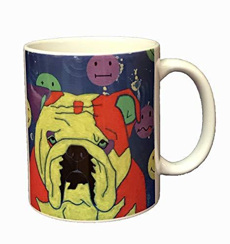 Have a Day Bulldog Coffee Mug, Dog Art Coffee Cup, 11 oz Ceramic Mug by Angela Bond - Ceramic Mug Bulls