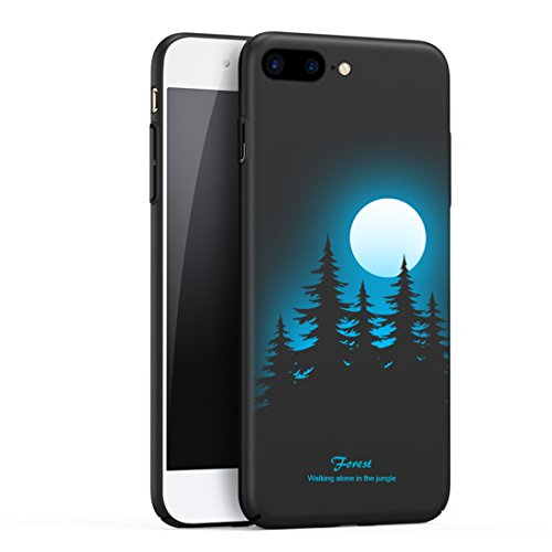 iPhone 7 Plus Hard Matte Case, Full Protective Smooth Series SOUNDMAE Matte Surface Personalized Creative Design Plastic Back Cover for iPhone 7 Plus 5.5 Inch, Forest