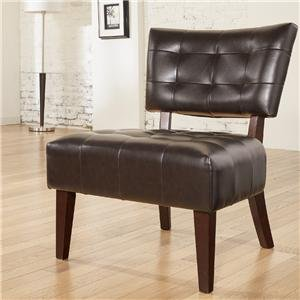 Ashley Furniture Signature Design - Matrix Showood Accent Chair - Contemporary Style Side Chair - Chocolate Brown Contemporary Style Dark Chocolate