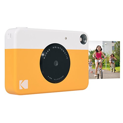 Kodak Printomatic Instant Print Camera , Prints On ZINK 2x3' Sticky-Backed Paper - Yellow