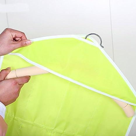 Yooh 16 Tasche Trasparenti per Appendere Borse Calzini Reggiseno Biancheria Intima cremagliera Appendiabiti organizzatore di stoccaggio Muro Rack di stoccaggio Beige