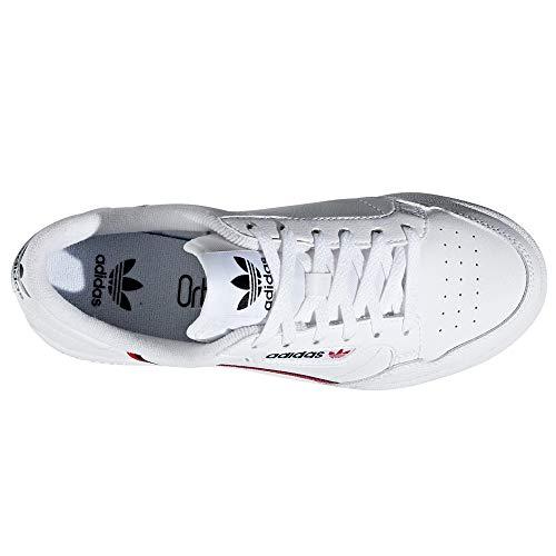 Sneaker 80 scarlet Scarpe White navy Adidas Continental Derby Bianco Stringate 5YnxRfgP