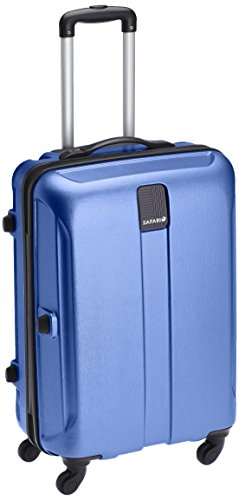 Safari Thorium Stubble 77 Cms Polycarbonate Blue Check-In 4 wheels  Hard Suitcase