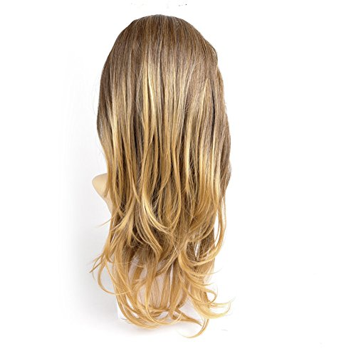 Ty.Hermenlisa 28 195g Long Wavy Layered 3/4 Head Wig One Piece Clip in Synthetic Hair Extensions for Thick Volume Body Wave Women Weft Hairpiece Accessory