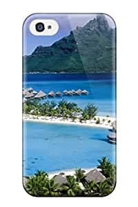AMGake Scratch-free Phone Case For Iphone 4/4s- Retail Packaging - Gorgeous Beach Resort