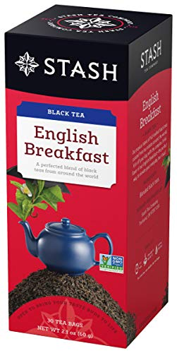 Stash Tea English Breakfast Black Tea 30 Count Box of Tea Bags in Foil (Pack of 6)